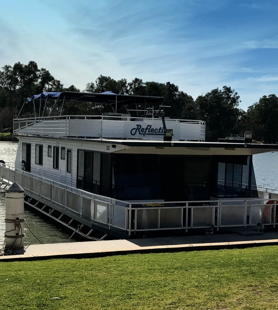 Houseboat Reflection on the Murray