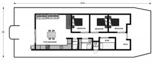 Reflection on the Murray Houseboat - Floorplan